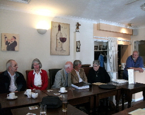 A social gathering at the Treleigh Arms.